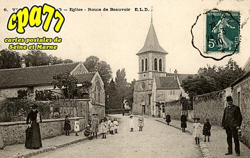 Verneuil L'étang - Eglise - Route de Beauvoir