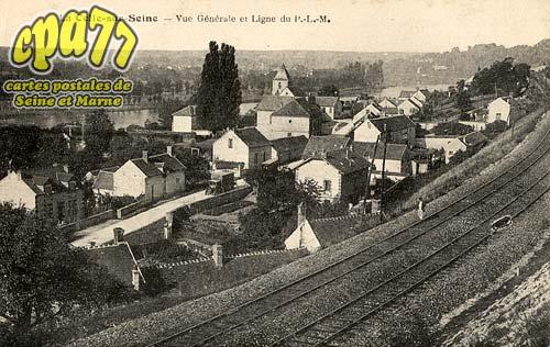 Vernou La Celle Sur Seine - Vue Générale et Ligne du P.L.M.