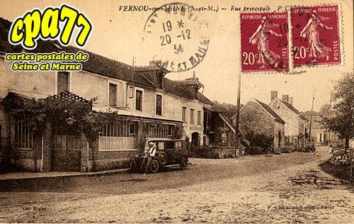Vernou La Celle Sur Seine - Rue principale