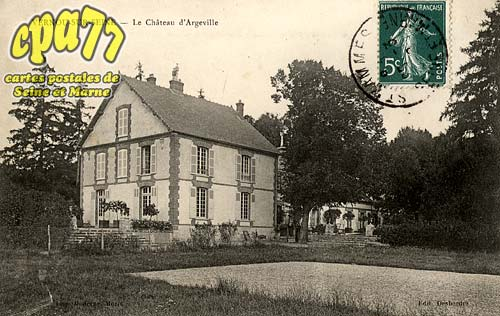 Vernou La Celle Sur Seine - Le Château d'Argeville
