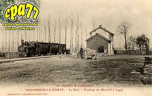 Villeneuve Le Comte - La Gare - Tramway de Morcerf à Lagny (en l'état)