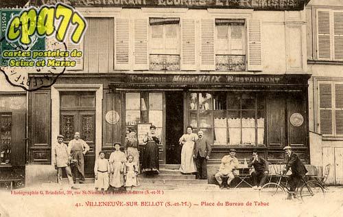 Carte postale ancienne de villeneuve sur bellot 77 for Bureau tabac 64