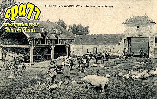Villeneuve Sur Bellot - Intérieur d'une Ferme