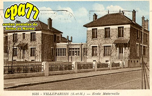carte postale ancienne de villeparisis 77 ecole maternelle. Black Bedroom Furniture Sets. Home Design Ideas