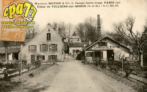 Villiers Sur Morin - Maurice Royon & Cie, 6, passage Sainte-Avoye, Paris (3�) - Usine de Villiers-sur-Morin - R.C. 206.401