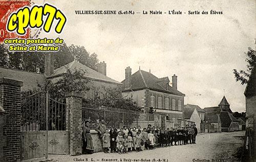 Villiers Sur Seine - La Mairie - L'Ecole - Sortie des Elèves