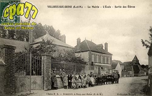Villiers Sur Seine - La Mairie- l'Ecole - Sortie des Elèves