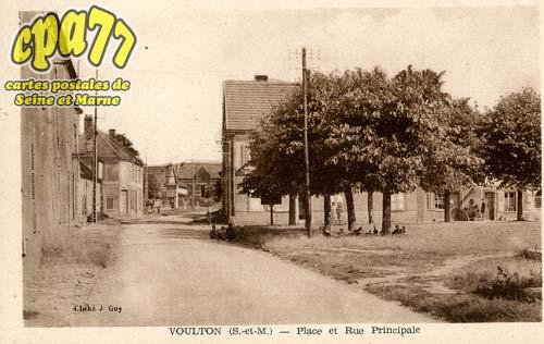Voulton - Place et Rue Principale